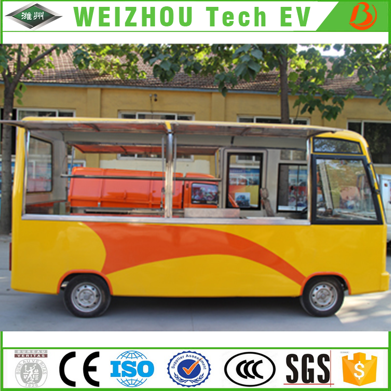 Electric Food Bus WZ-E4 4 Wheel Fast Food Truck Van with Mobile Multifunction Kitchen