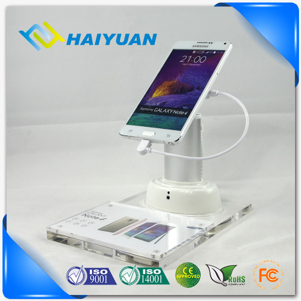 Metal and ABS plastic mobile phone alarm security display stand