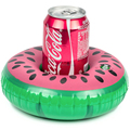 Water Fun Watermelon Cup Holder Floats Inflatable Floating Coasters for Pool Party