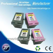 Dye ink for HP 121/818 ink cartridge with chip