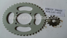 Factory Sales Material SAE1045 14T 45T 428H 118L Motorbike Chain and Sprocket YBR125