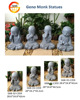 concrete touch eyes monk statues for garden decoration