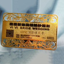 Factory Price Logo Printed/engraved Personalized Metal Vip Visiting Cards