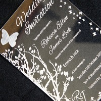 hor sell wholesale elegant clear acrylic invitation for wedding