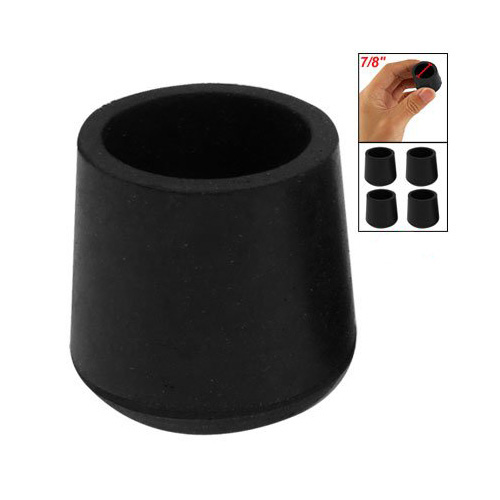 New Practical Rubber Black Table Chair Leg Foot Covers Floor Protector 4 Pcs