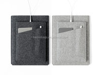 Pro Tablet Laptop Sleeve with Pockets Made of Charcoal Felt