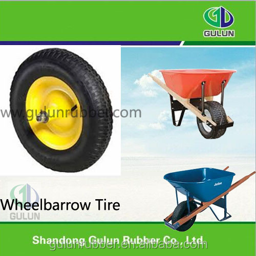 Factory supplier 10 Inch small pneumatic wagon tyre rubber wheelbarrow tire 3.00-4