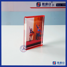 Acrylic magnetic Photo Frame block manufacturer