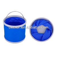 Collapsible Portable Camping Bucket with stainless steel handle