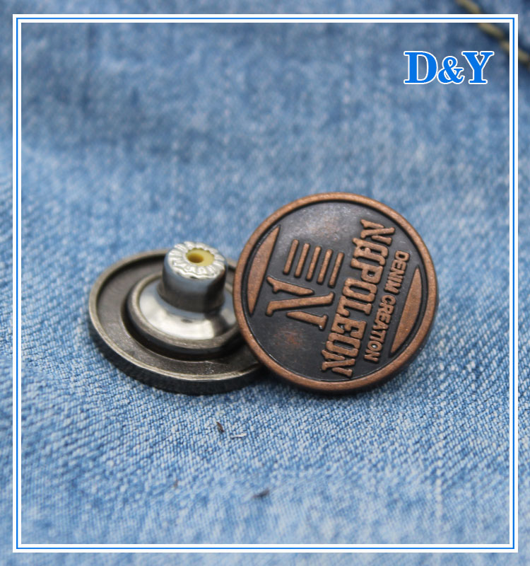 2016 hot selling jeans brass button