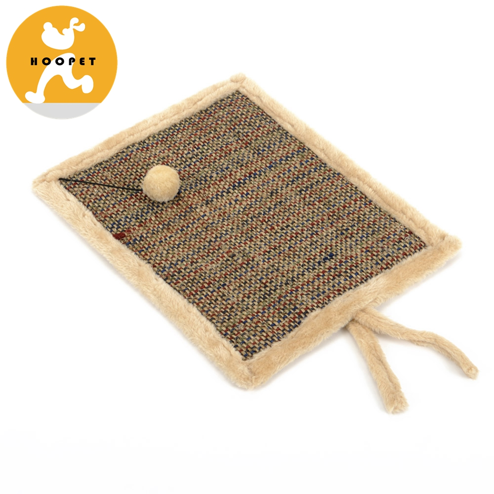 Cheap large scratching post cat bamboo mat with hanging ball