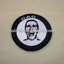 Promotional high quality customized embroidery patch adhesive