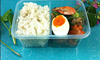 2015 News!Mini plastic food tray bento lunch box with dividers for food