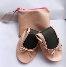 Girls high quality custom fashion latest foldable ballet flats for women 2017 made in China