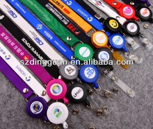 Lanyards with pull key reels, Plastic pull reel