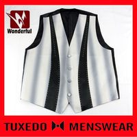 Top quality customize cheap waistcoat and bow tie suit set