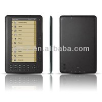 Hot selling Multi Language 800 x 600 Resolution 7 inch Ebook reader with MP3 FM Function Support TF Card and up to 8GB