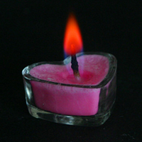 Non-toxic and environmentally friendly aluminum color flame tea wax, cup-shaped candle festive party