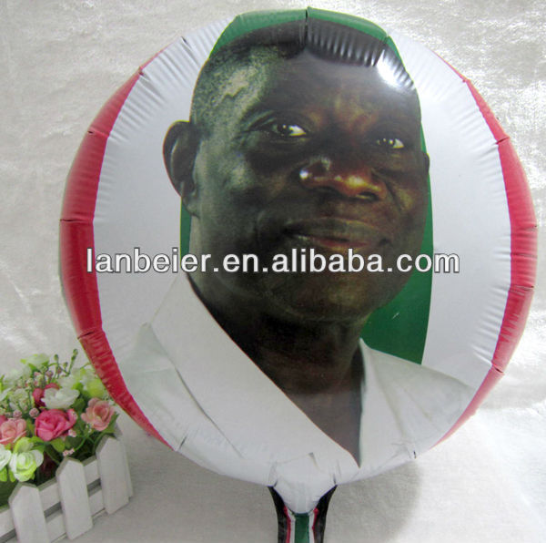 18 inch chinese round shape photo printing balloon