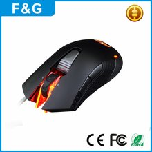 USB Optical Wired Colorful Breathing LED 6 Bottons OEM Gaming Mouse