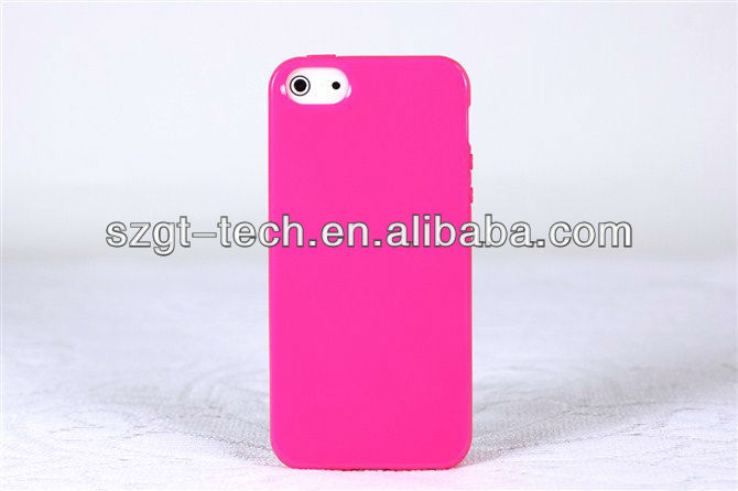Fashion TPU case for iPhone5 with jelly pattern, TPU mobile case,phone case