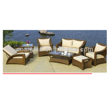 2017 modern rattan furniture terrace wicker sofa Set