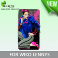 Customize Printing Sublimation Stand Leather Wallet Phone Case for WIKO LENNY 3