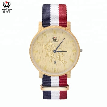 XINBOQIN Factory Manufacturer Wholesale Wrist Watches Mens Women Minimalist Water Proof Ultra Thin Quartz Wood Watch