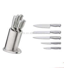 China wholesale latest innovative products knives set with stainless steel holder