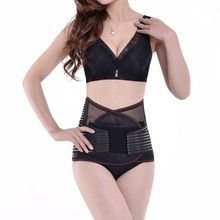 magnetic mesh waist support band with curve style for medical