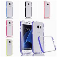 2016 Luxury Gel TPU PC Cases for Samsung Galaxy s7 edge case 5.5 inch Crystal Clear Hard Back Cover for Samsung S 7 edge Case