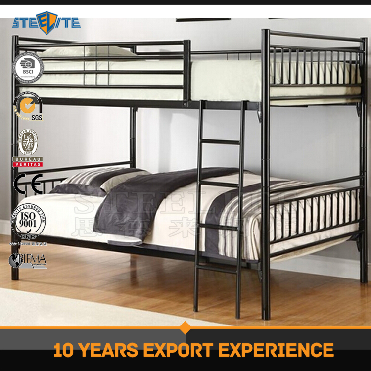 School furniture children bunk bed metal bunk bed parts / steel double bed