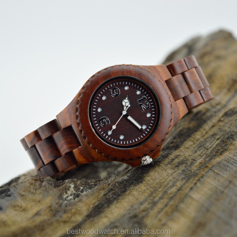Latest Simple Design Unisex Watch Noctilucent Function Wooden Quartz Wrist Watches For Men Women