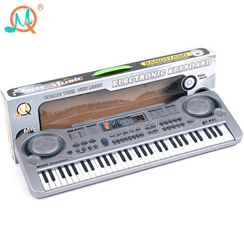 China manufacturer digital display electronic keyboard 61 keys with microphone