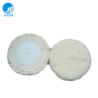 "6"" single side velcro wool buffing pad for car care details repair"