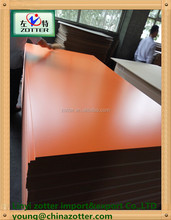 Linyi wholaesale 18mm Orange color Melamine paper MDF with good quality