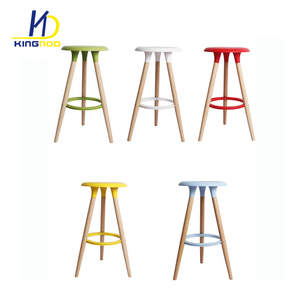 New Design Wooden Legs Abs Top High Chair Plastic Bar Chairs