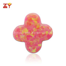 Synthetic Opal Clover, Four Leaf Clover Opal Gemstones for Child Jewelry