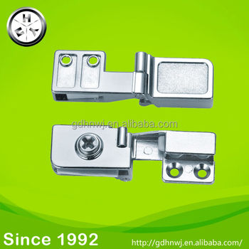 GB Zinc alloy glass door hinge for display cabinet