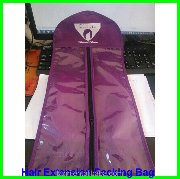 Brand custom hot sealing cheap pvc bags for hair extension