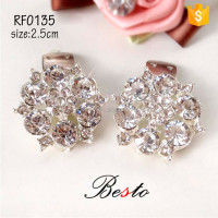 Removable crystal rhinestone shoe clip accessories for heel shoes