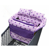 New designed shopping cart coer with 2 cotton padded pillows