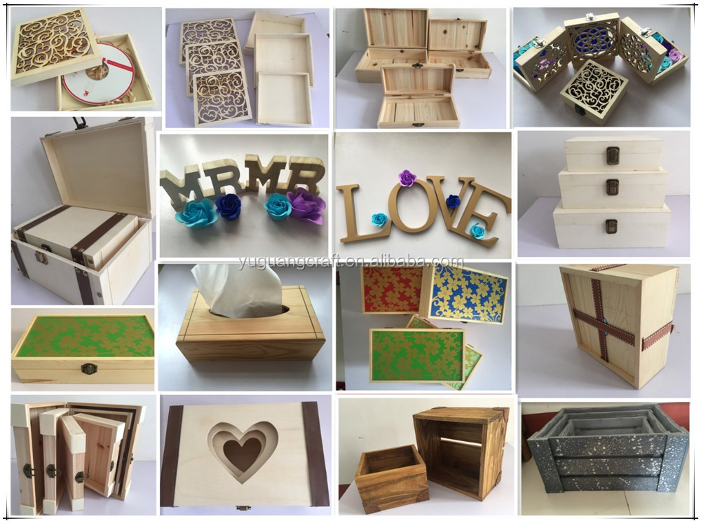 Wholesale Fancy Craft Pretty Boxes Packaging for gift,Wooden Gift packaging box