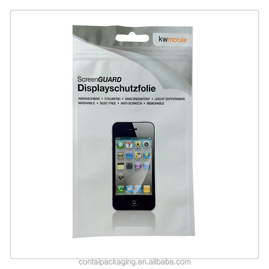 White/Clear Phone Case Plastic Retail Packaging Poly Bag with custom logo