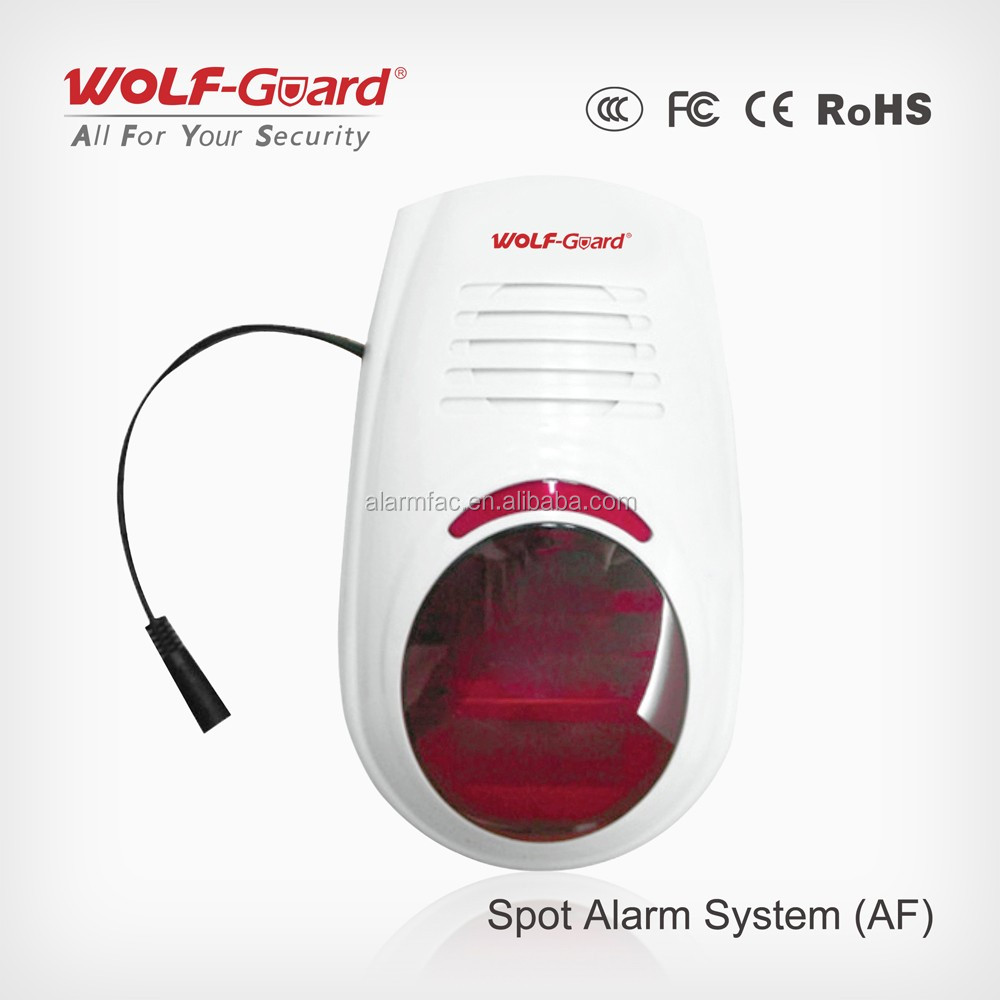 Wireless 433mhz Battery Operated Alarm Siren With 110db , flashing and light