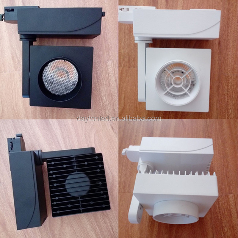 5 Year Warranty Square 35W 90Ra COB LED Track Lights For Shop Clothes