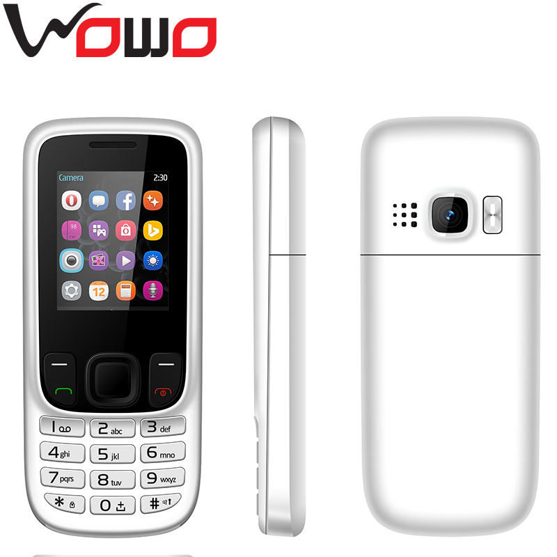 6303 Cheapest Mobile Phone GSM900/1800 / 850/1900MHz Dual SIM Cellphones 1.77inch China Feature Phones