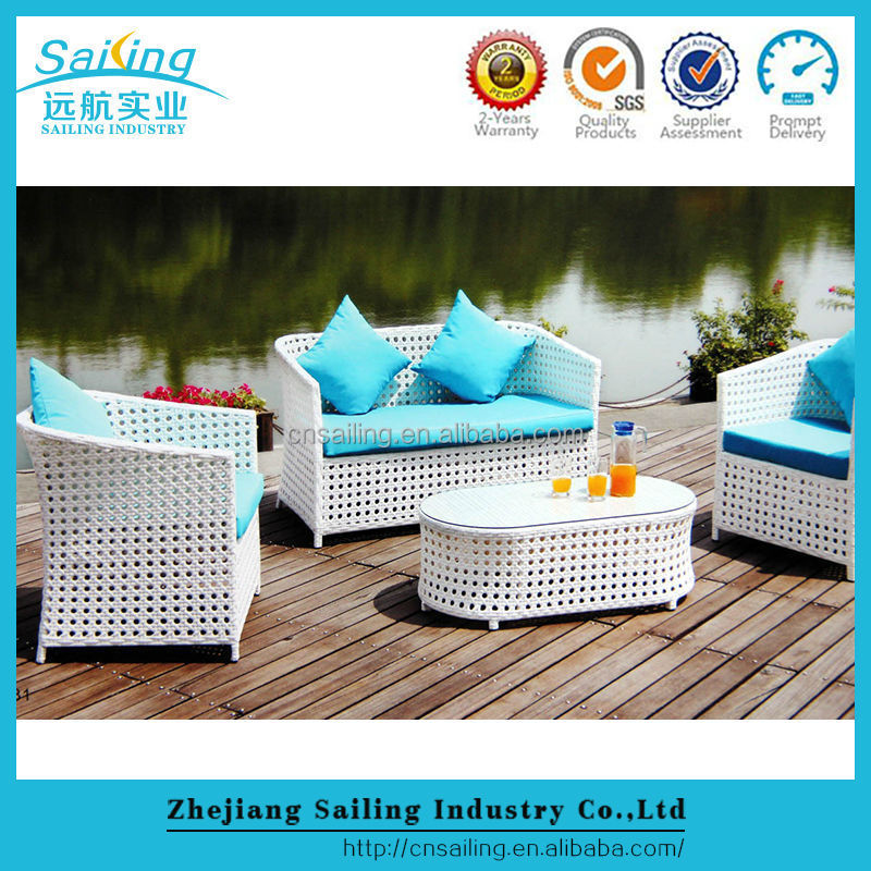 Outdoor Poly Rattan Wicker Furniture Dining Cube Table Set