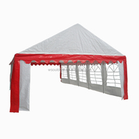 Heavy duty white&red 5x10m PE tents, Party gazebo, Wedding marquees with full set of sidewalls