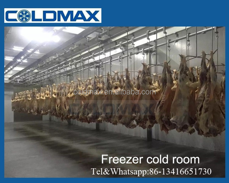 freezer storage room for meat ,poultry,fish,chicken,meat and beaf with refrigeration